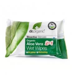Organiczne chusteczki nawilżane 20 sztuk (Aloe Vera)