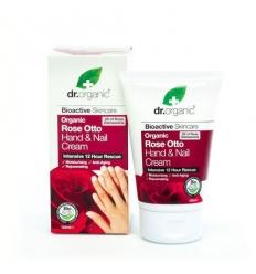 Organiczny krem do rąk i paznokci 125 ml (Olejek Różany)