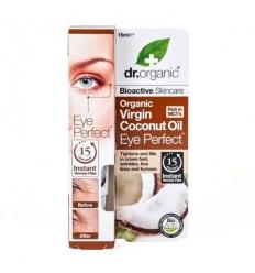 Organiczne błyskawicznie wygładzające serum wokół oczu 15 ml (Olej Kokosowy Virgin)