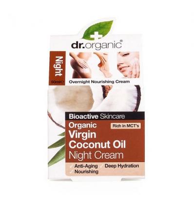 Organiczny krem na noc 50 ml (Olej Kokosowy Virgin)