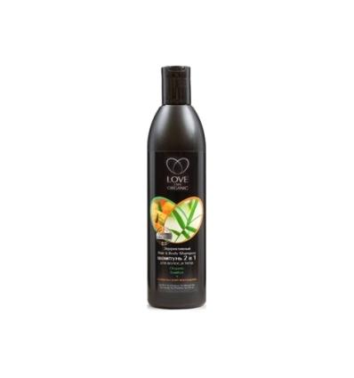 Szampon do włosów i ciała 2w1. Organiczny bambus i sewilska mandarynka 360 ml (Love2Mix Organic)