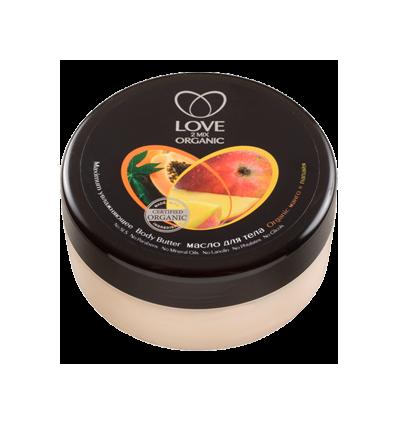 Masło do ciała maksymalne nawilżenie. Mango i papaja 250 ml (Love2Mix Organic)