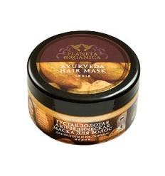 Złota Ajurwedyjska maska do włosów. Gęstość i wzrost 300 ml (Planeta Organica)