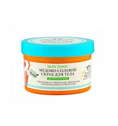 Peeling miodowo-solny do ciała. Wzmocnienie i napięcie skóry 450 ml (Planeta Organica)