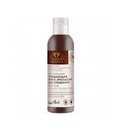 Oczyszczająca fito-emulsja do twarzy Anti-Age 200 ml (Planeta Organica)
