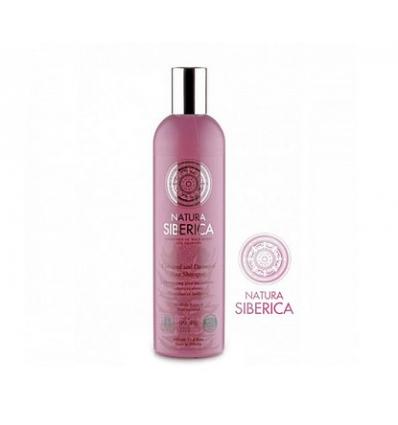 Szampon do włosów farbowanych i zniszczonych. Ochrona i blask 400 ml (Natura Siberica)