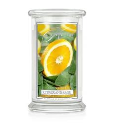 Citrus and Sage (Duży słój - 2 knoty)