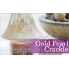 Gold and Pearl Crackle (duży klosz + podstawka)