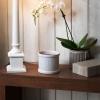 Weave (biały kominek elektryczny do wosków scenterpiece)