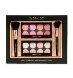 Zestaw do makijażu Ultra Professional Blush & Highlight Expert (Makeup Revolution)