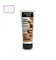Peeling gommage do twarzy - kawa (Organic Shop)