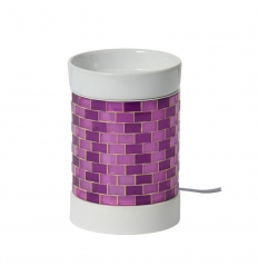 Elektryczny kominek Glitter Glow (fioletowy)
