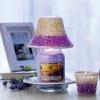 Purple & Gold Crackle (duży klosz + podstawka)