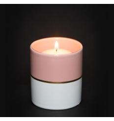 Simply Pastel - świecznik na sampler różowy