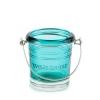 Wiaderko - błękitny świecznik na sampler
