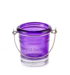 Wiaderko - fioletowy świecznik na sampler