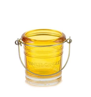 Wiaderko - żółty świecznik na sampler