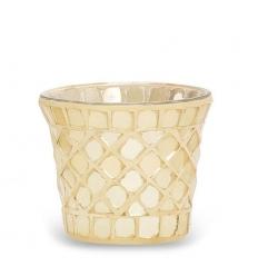 Złociste szkło - świecznik na sampler/tealight