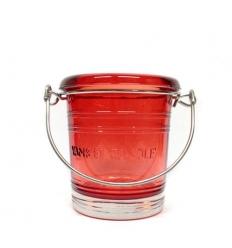 Wiaderko - rubinowy świecznik na sampler