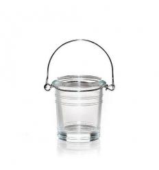 Wiaderko - przeźroczysty świecznik na sampler