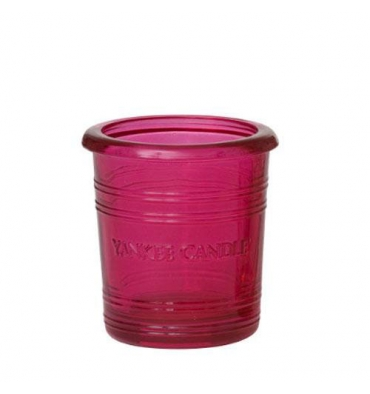 Pink Hibiscus Bucket - świecznik na sampler