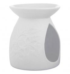 Biały kominek (Motyw kwiatów)
