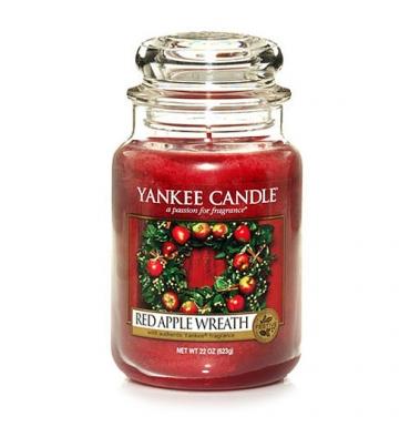 Red Apple Wreath (Duży słoik)